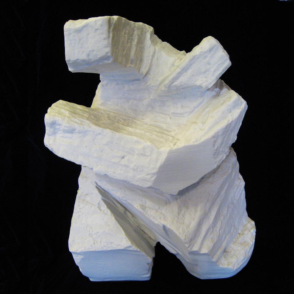 白瓷色太極砂岩雕塑rock18w