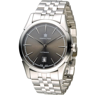 Hamilton 漢米爾頓 Timeless Classic 自由精神機械錶-灰/42mm