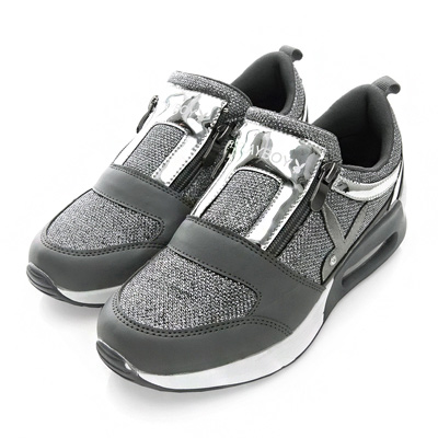 PLAYBOY 強勢推薦  亮蔥光感氣墊運動鞋-鎳(女)