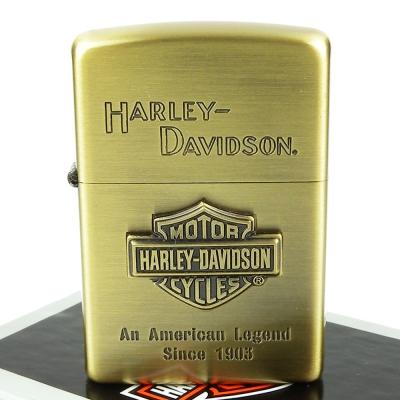 【ZIPPO】日系~Harley-Davidson-哈雷-立體金屬貼飾打火機