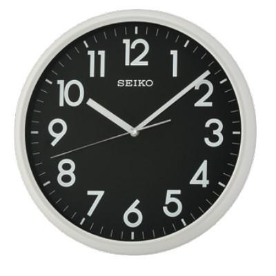 SEIKO 日本精工 夜光掛鐘 時鐘(QXA694N)-黑x米色框/28cm