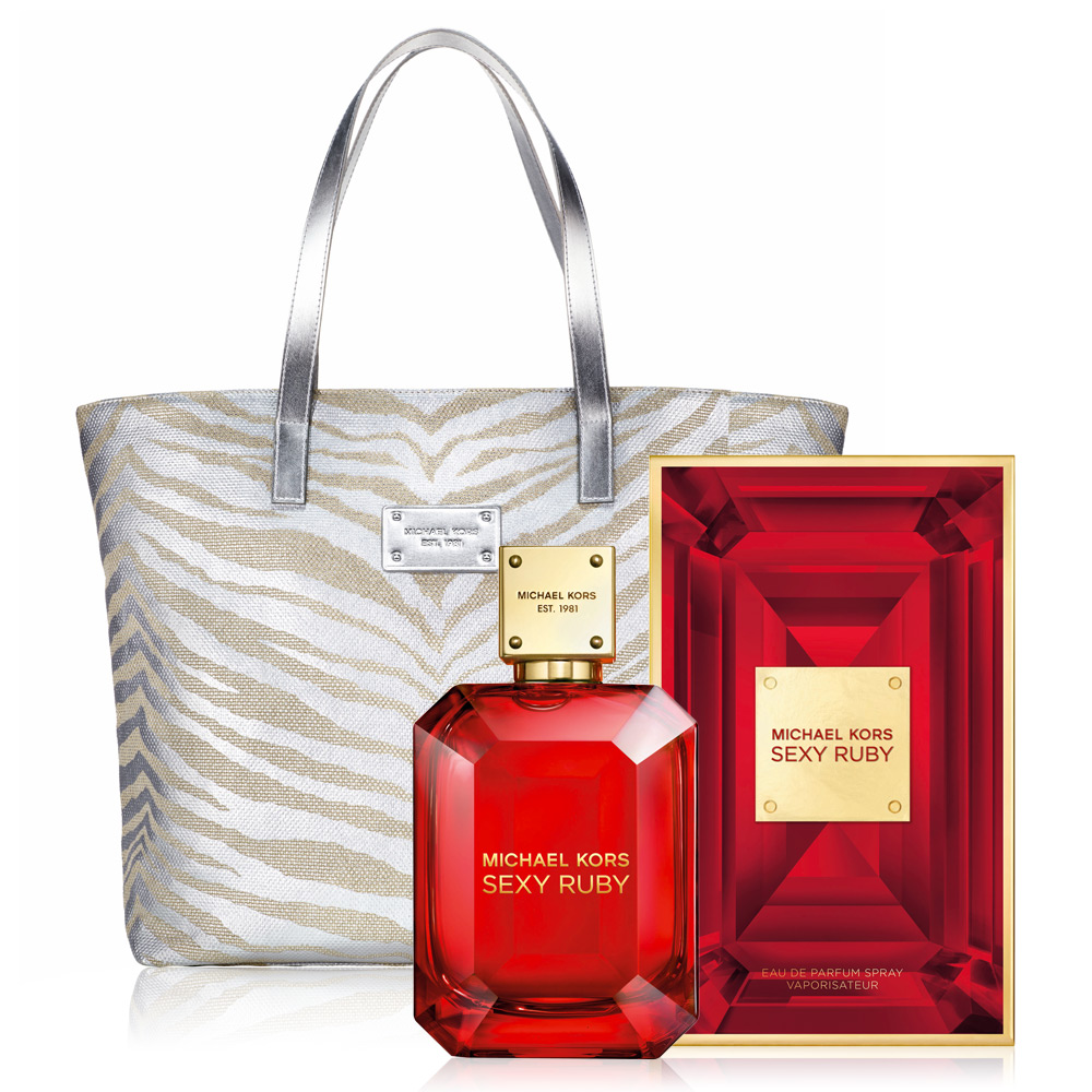 Michael Kors Ruby 女伶女性淡香精100ml+MK金燦托特包