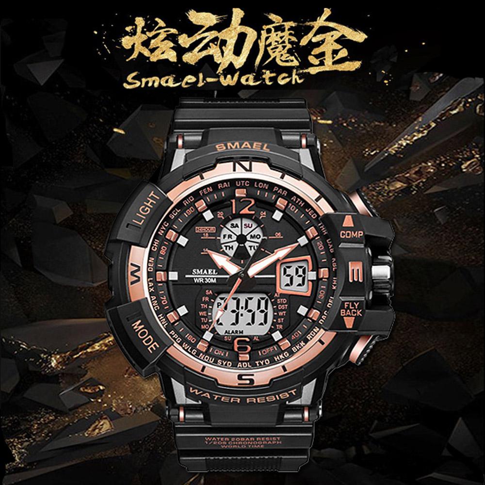 美國熊 日本機心 電子錶 軍錶 運動防水LED錶
