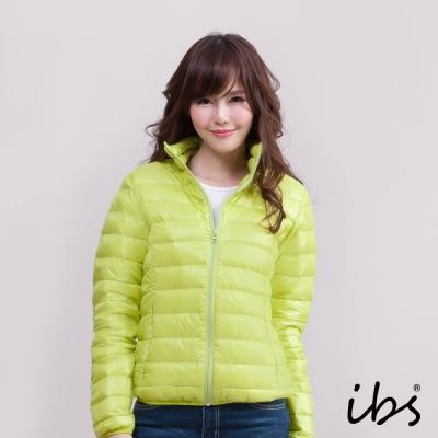 ibs 極輕量純白絨立領羽絨外套-淺綠-女