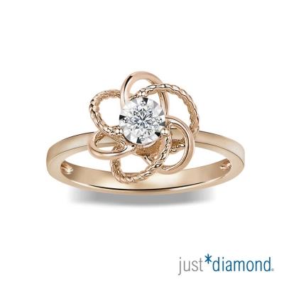 Just Diamond 花漾佳人系列18K玫瑰金 鑽石戒指