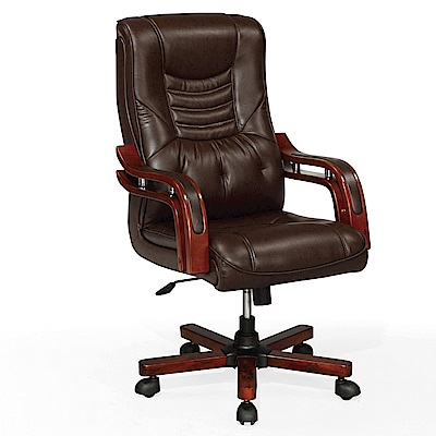 GD綠設家 洛貝比皮革多功能主管椅/辦公椅-65x80x108cm免組