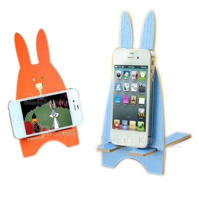kiret 可愛兔子收納架 手機座 手機架-手機支架 顏色隨機