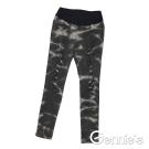 【Gennie's奇妮】水洗紋刷色抓破造型孕婦牛仔貼腿褲-黑(G4119)