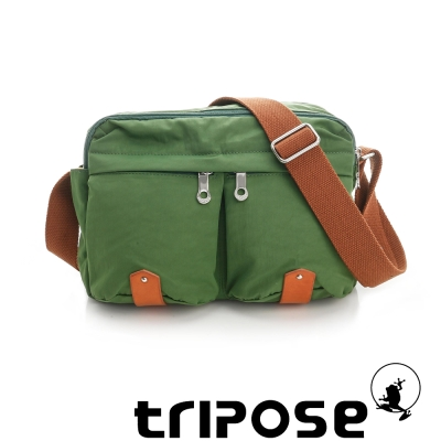 tripose MOVE系列多格層機能斜背包 淺綠