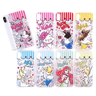 Disney迪士尼 童趣手繪防摔氣墊空壓保護殼套_iPhone X