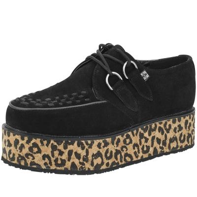 TUK經典5公分豹紋厚底龐克鞋-黑