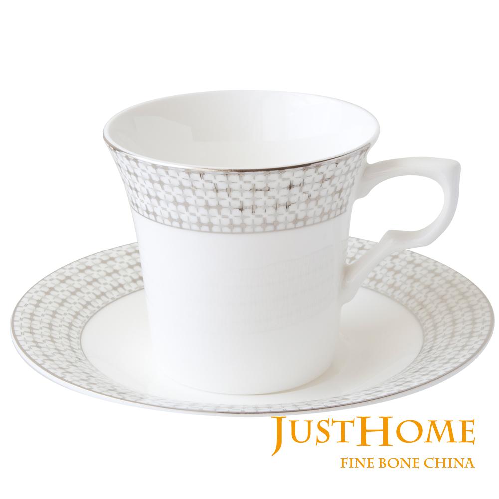 Just Home 莉亞高級骨瓷2入咖啡杯盤組(附禮盒)
