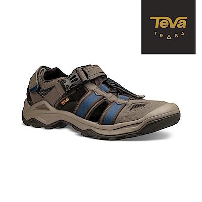 TEVA 美國 男 Omnium 2 護趾水陸機能涼鞋 藍橄欖綠