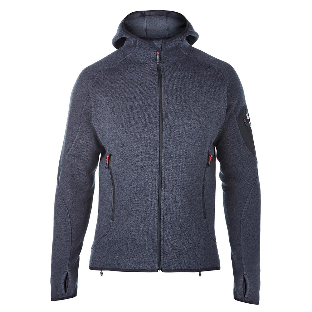 【Berghaus 貝豪斯】男款保暖刷毛連帽外套H22MT8-灰