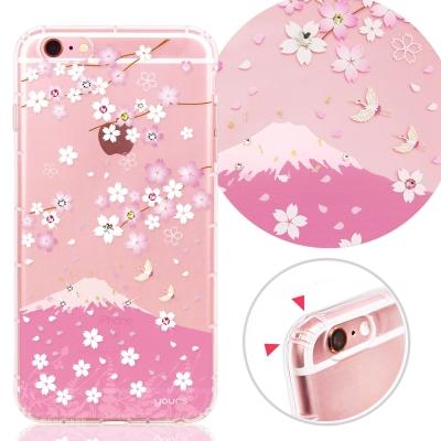 YOURS APPLE iPhone6s Plus 奧地利彩鑽防摔手機殼-櫻飛雪