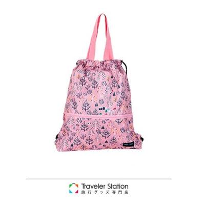 【HAPI+TAS】森林後背束口包-粉紅