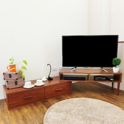 Amos-溫潤木質雙層電視櫃(W200*D39*H40cm)