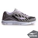 ERKE 鴻星爾克。女運動常規慢跑鞋-鋼灰/淺紫