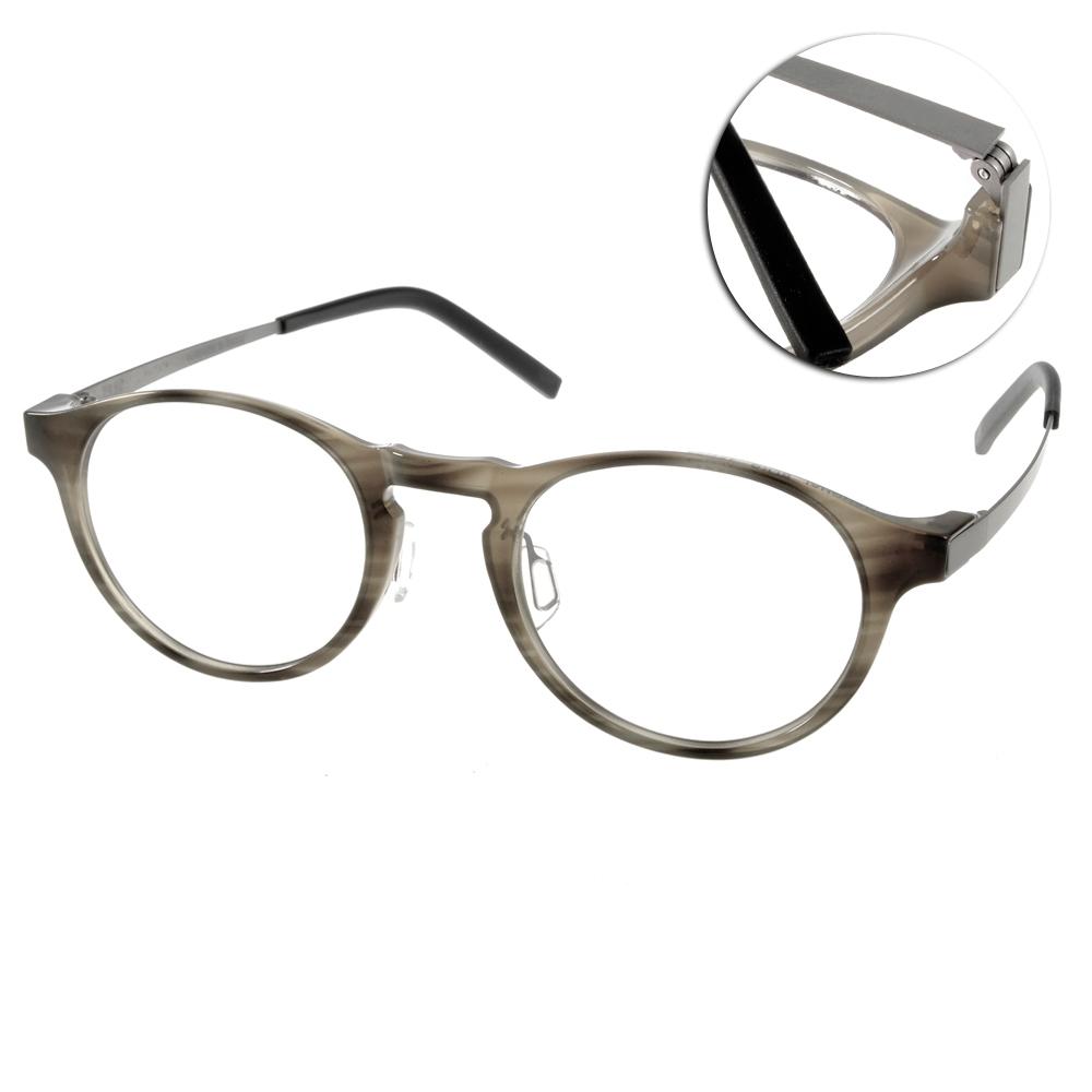 JULIO眼鏡 完美工藝/灰-銀#SHANGHAI BLKG