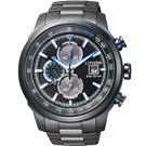 CITIZEN Eco-Drive 三眼計時光動能腕錶(CA0576-59E)-黑/45mm