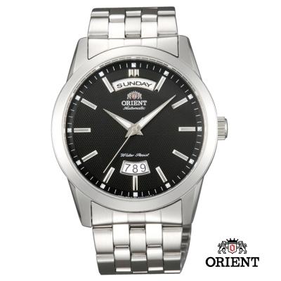 ORIENT 東方錶 WILD CALENDAR系列 寬幅日曆機械錶~黑色 40mm