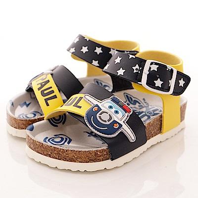 SUPER WINGS 軟木涼鞋款 EI3808 黃 (小童段)