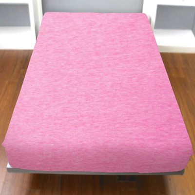 Yvonne Collection細條紋加大純棉床包-粉紅