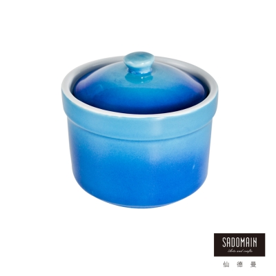 仙德曼SADOMAIN 亮彩焗烤燉盅焗烤盤-藍色
