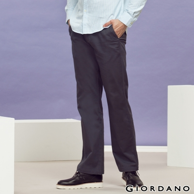 GIORDANO-男裝中腰標準直筒彈性休閒褲-05