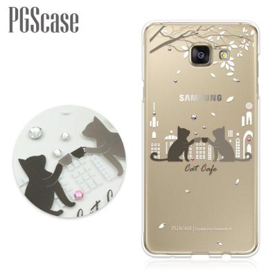 PGS Samsung Galaxy A5(2016) 奧地利彩鑽手機殼-午茶貓...