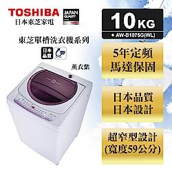 TOSHIBA東芝 不鏽鋼槽10kg洗衣機 AW-B1075G