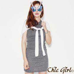 正韓 慵懶感圓弧剪裁小外套 (共六色)-Chic Girl