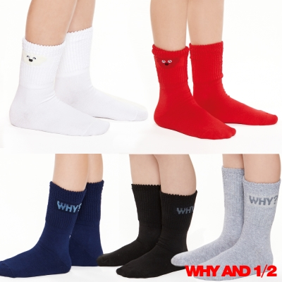 WHY AND 1/2 襪子 中長襪 泡泡襪多色可選