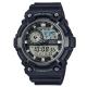 CASIO 世界地圖時間設計雙顯運動錶(AEQ-200W-1A)-黑X銀框51.4mm product thumbnail 1