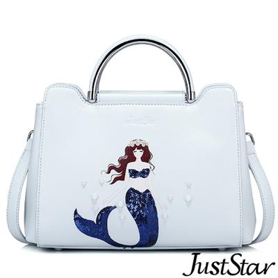Just Star 人魚童話珍珠手提包  水漾藍
