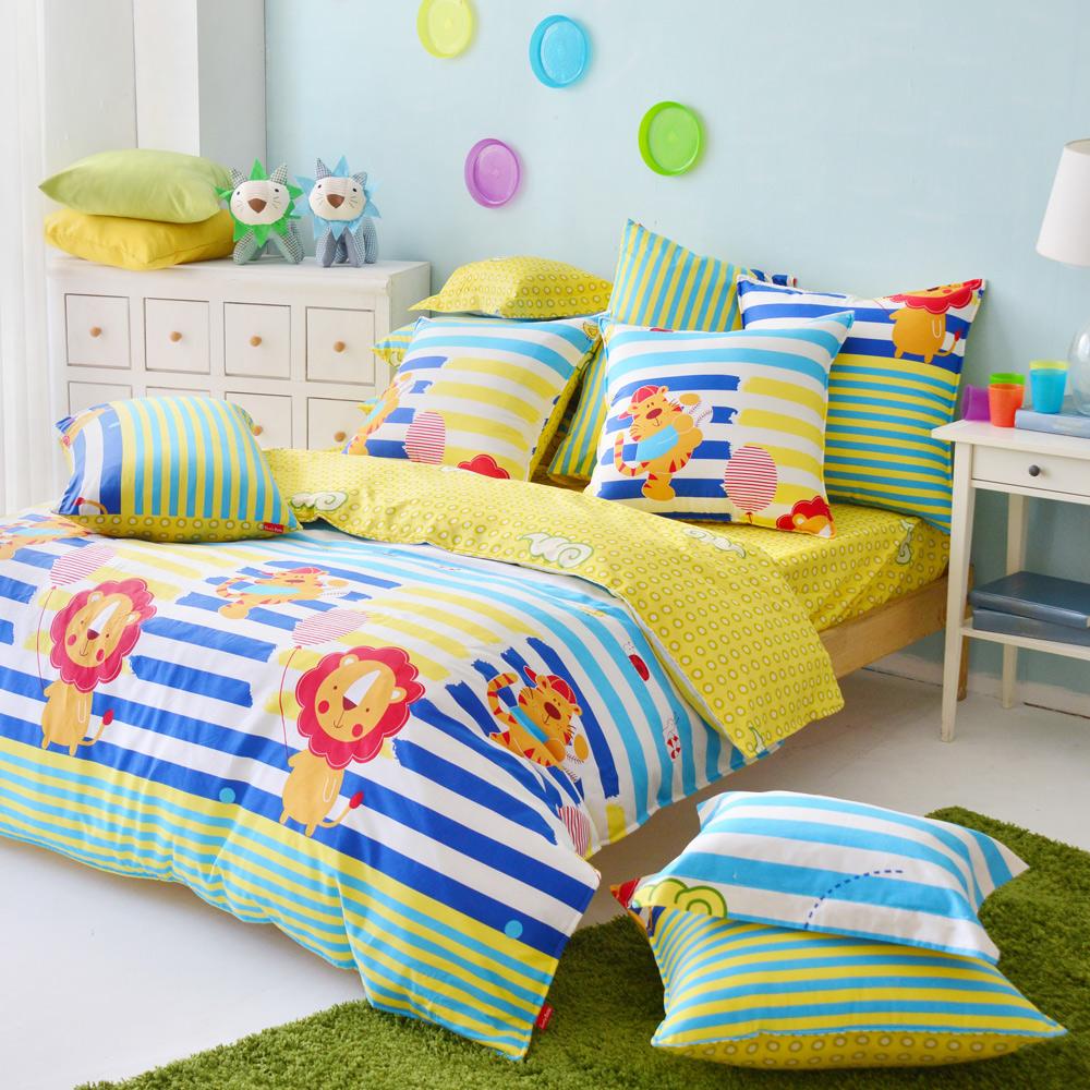 義大利Fancy Belle 樂活一夏 雙人純棉床包枕套組