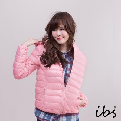 ibs-極輕量純白絨連帽羽絨外套-女-粉紅