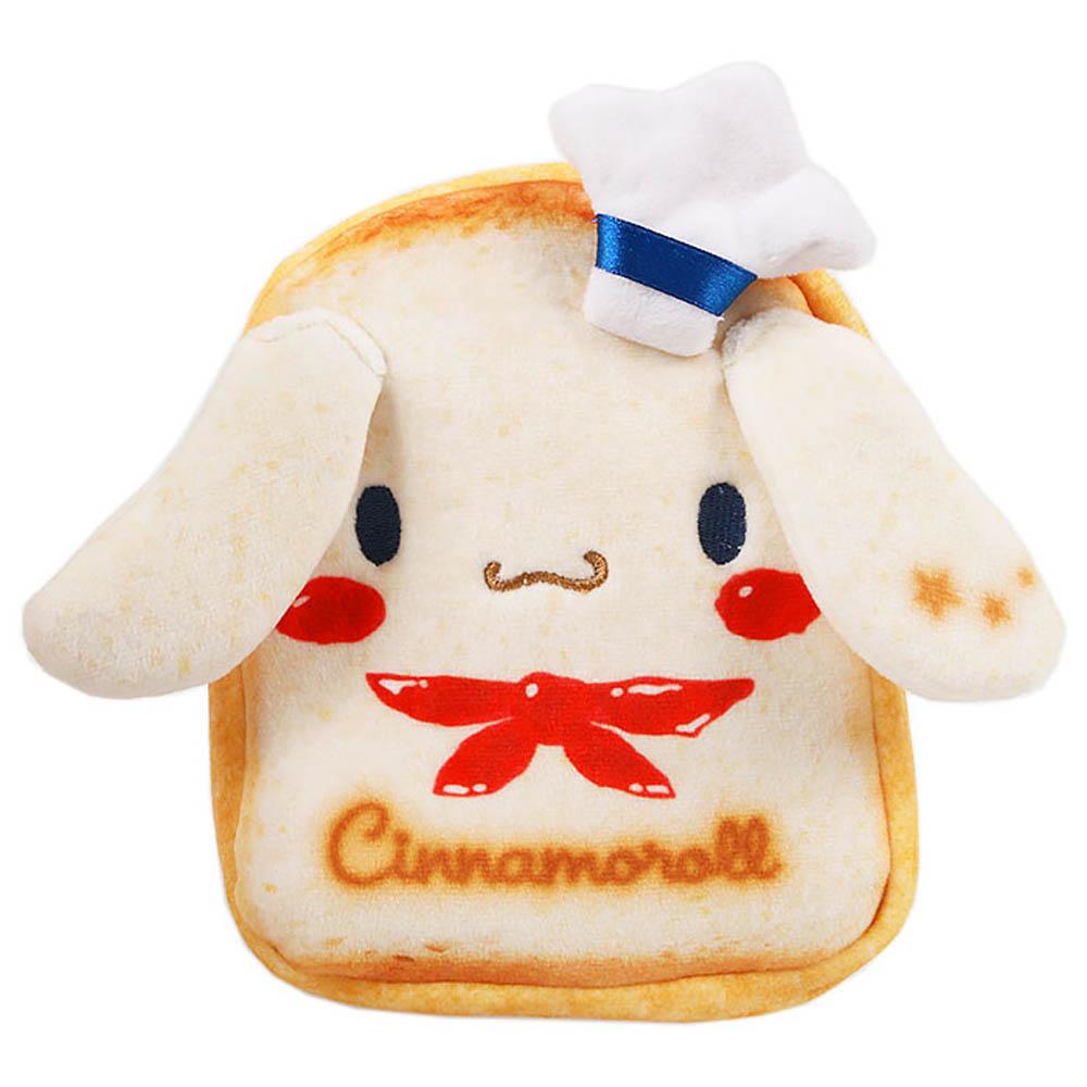 Sanrio 三麗鷗明星趣味麵包店系列吐司麵包造型絨毛扁平化妝包(大耳狗喜拿)