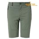 【hilltop山頂鳥】男款超潑水抗UV彈性短褲S09M63灰綠
