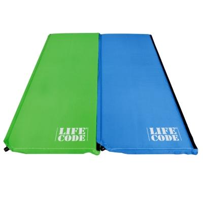 LIFECODE《馬卡龍》雙面可用自動充氣睡墊-厚3cm (2入組)