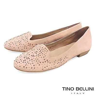 Tino Bellini 巴西進口閃耀水鑽舒適樂福鞋_ 粉