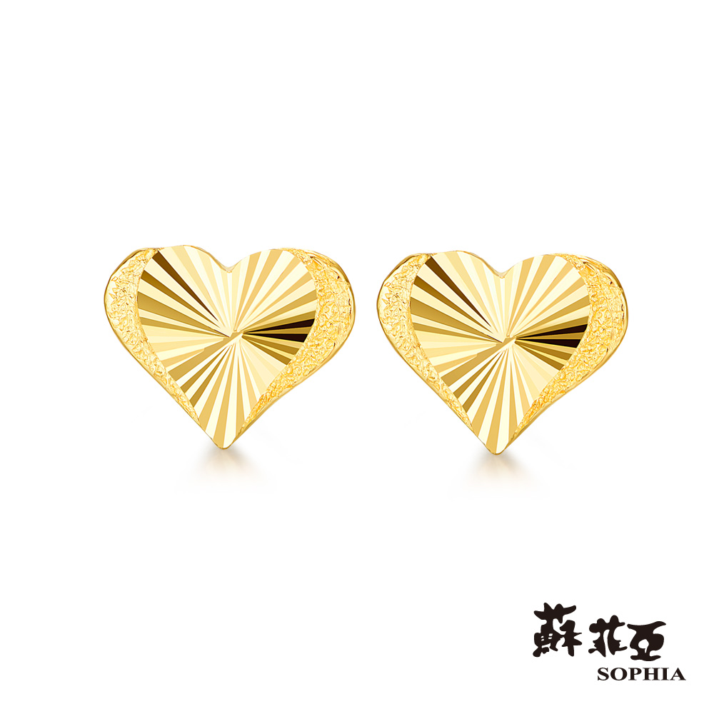蘇菲亞SOPHIA - G LOVER系列唯愛黃金耳環