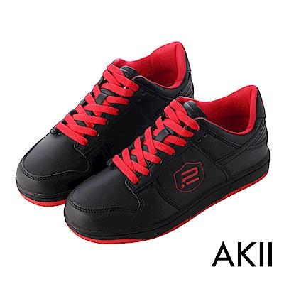 【AKII】極簡時尚內增高休閒鞋 ↑7cm 黑