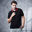Nautica 簡約素色短袖POLO衫 -漆黑
