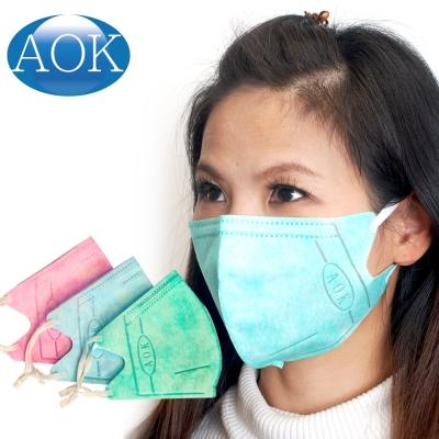 AOK 飛速 一般醫用立體口罩 50入/盒 (粉紅色/粉藍色)