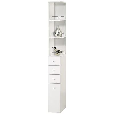 米妮Mini 小細縫角落/抽屜收納櫃組-白色