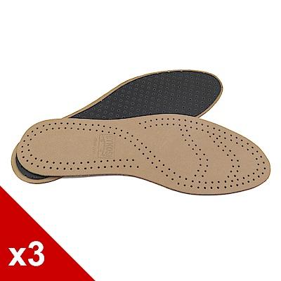 糊塗鞋匠 優質鞋材 C04 羊皮乳膠透氣吸汗防臭鞋墊 (3雙/組)