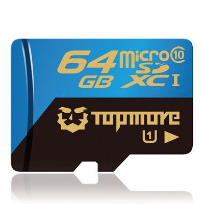 TOPMORE 64GB microSDXC UHS-I Class 10 記憶卡