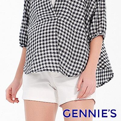 Gennies專櫃-沁涼微抓破短褲-白(T4F01)