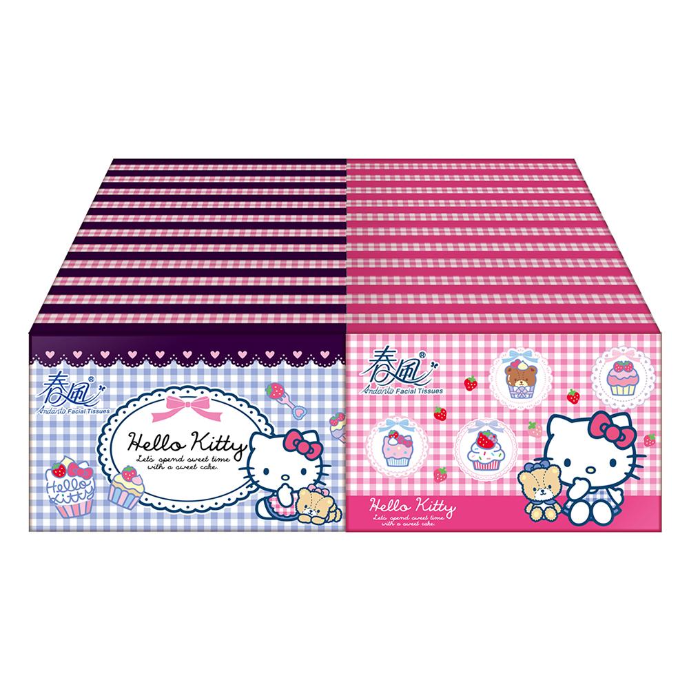 春風袖珍包面紙 10抽x30包/串 Hello Kitty點心風